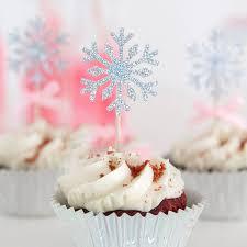 <b>30pcs</b> Snowflake Cupcake Cake Glitter Paper Topper <b>2020 Happy</b> ...