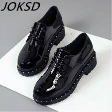Hot Sale <b>Women Shoes Genuine Leather Oxford Shoes</b> For <b>Women</b> ...