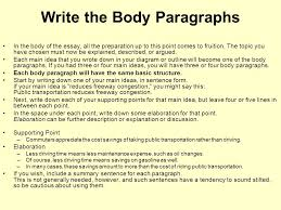 drafting outline of a sample persuasive essay   sample persuasive    write the body paragraphs in the body of the essay  all the preparation up to