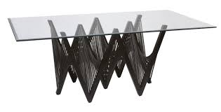 rectangle glass beveled dining table top with contemporarywave shape black wrought iron table based elegant black wrought iron table