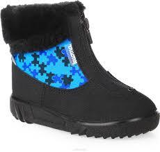 Купить <b>ботинки Kuoma</b>, цвет: синий, черный. <b>Ботинки</b> детские ...