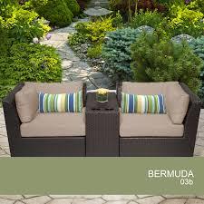 crossman piece outdoor bistro: bermuda  piece outdoor wicker patio furniture set b design