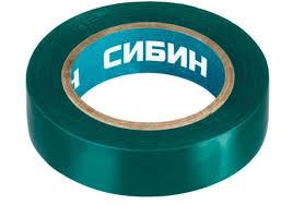 <b>Изолента</b>, 10м х <b>15мм</b>, зеленая <b>СИБИН</b> 1235-4, 1235-4 ...