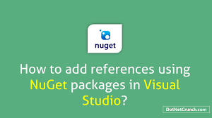 adding references using nuget packages in visual studio dotnetcrunch