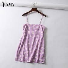 Vintage floral cherry <b>print chiffon dress women</b> beach dress Sexy ...