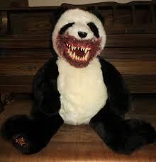 OOAK Creepy Gothic Evil Undead Panda Teddy Bear <b>Horror Plush</b> ...