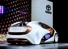 toyota unveils concept i an autonomous lifestyle car for the drifting out of the lane out the blinker on the car can intervene to alert the driving a vibrating steering wheel an auditory alert