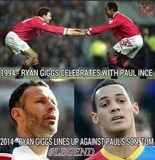 Quality Paul & Tom Ince Meme sums up the longevity of Ryan Giggs ... via Relatably.com