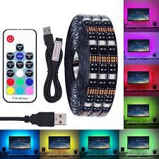 BEILAI <b>DC 5V USB LED</b> Strip 5050 Waterproof RGB LED Light ...