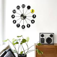 <b>Metal</b> mute <b>wall</b> clock,Living room Bedroo- Buy Online in Cambodia ...