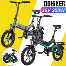 "<b>DOHIKER 16</b>"" Folding <b>Electric</b> Bike City EBike Commuter E-Bike ..."