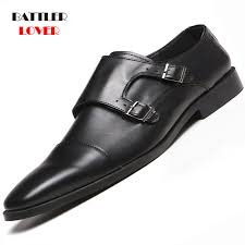 2019 New Men Leather Shoes Man Flat Classic Dress Shoe Men's ...