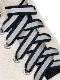 Шнурки для обуви, плоские, со светоотражающей полосой, 10 мм ...