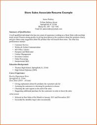 sample resume objectives retail s cipanewsletter retail associate resume resume volumetrics co s associate