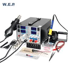 <b>WEP 853D</b>+5A <b>Soldering Station</b> Hot Air Gun BGA SMD Rework ...