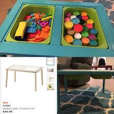 <b>IKEA Flisat</b> table made into a playdough table | Идеи, Лего
