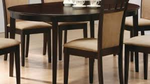 4 chair kitchen table: dining room cappuccino finish dining table sets with contemporary coaster oval dining table and oval