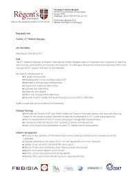 job description ict manager by the regent s international school job description ict manager by the regent s international school issuu