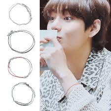 K-<b>pop</b> BTS <b>Fashion Jewelry</b> Red Leather Chain <b>Charm</b> Bracelet ...
