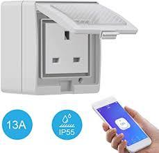 Smart Plug WiFi,<b>SONOFF S55</b> Heavy Duty <b>IP55</b> Waterproof 13A ...