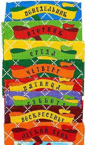"""Набор кухонных <b>полотенец Letto</b> """"Неделька"""", 35 см х 62 см, 8 шт"""