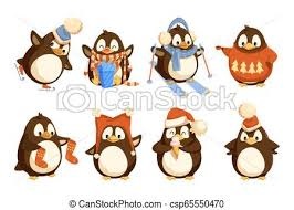 <b>Penguin</b> in winter wearing warm clothes warmth. <b>Penguin</b> in winter ...