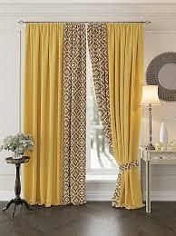 Купить комплект штор «Луиви (желтый). Подшит: 215 см ...