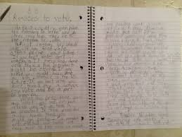 reasons to vote a persuasive essay written by a  year old  reasons to vote a persuasive essay written by a  year old