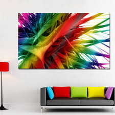 <b>SELFLESSLY 3D Colorful Plants</b> Canvas Prints Wall Art Painting For ...