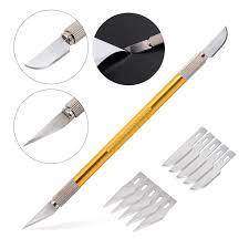 ehdis teflon double headed vinyl film cutter slitter utility knife 10pcs blade wallpaper car wrap stickers decal cutting tool
