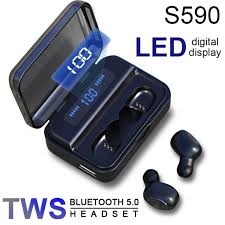 <b>S590 TWS Bluetooth</b> 5.0 <b>Wireless</b> Headphones 9D Stereo Earbuds ...