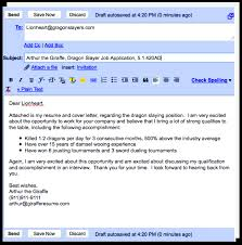 cover letter in an email template cover letter in an email