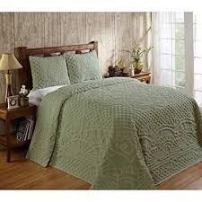 3 Piece Sage Green Chenille Geometric Tufted ... - Amazon.com