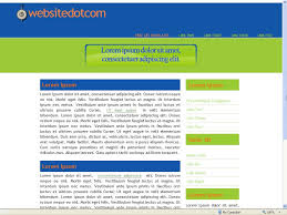 css template two column website templates by two column css website template