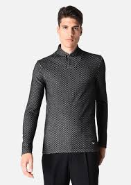 sweater in heavy jacquard stretch viscose with <b>diamonds</b>