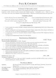 resume examples summary of qualifications certifications technology resume template accomplishment professional experience technical skills resume it template