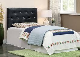 basteena tufted acrylic accent twin headboard black or white furniture