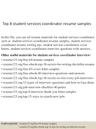 top  student services coordinator resume samplestop  student services coordinator resume samples in this file  you can ref resume materials