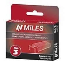 <b>Скобы</b> для степлера <b>MILES тип 53</b> 4мм (1000шт) упак. купить с ...
