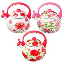 <b>Чайник</b> 2,2 л VETTA Цветы, <b>эмалированный со</b> свистком, индукция