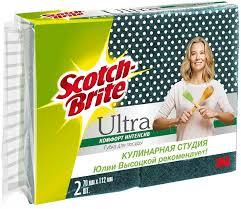 "<b>Губка</b> для мытья посуды <b>Scotch</b>-<b>Brite</b> ""<b>Интенсив</b>"", цвет: зеленый ..."