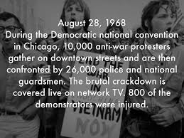 Image result for photos of 1968 democratic convention