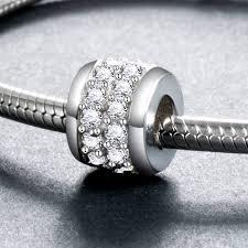 <b>Fit Authentic pandora Bracelets</b> Silver 925 Original Middle White ...
