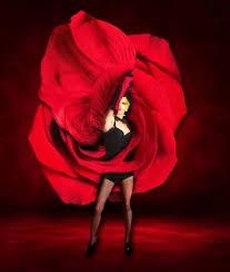 <b>Sexy</b> Woman Dancer Wearing <b>Red Rose Dress</b> Stock Photo, Picture ...