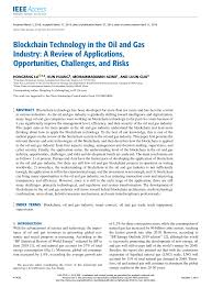(PDF) <b>Blockchain</b> Technology in the <b>Oil</b> and Gas Industry: A Review ...