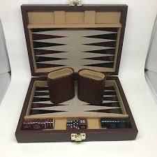 Дорожные нарды игровой набор в чехол магнитный коричневый ...