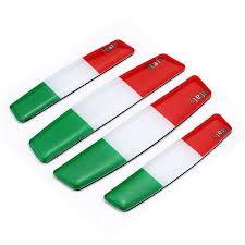 Online Shop <b>4 PCS</b>/<b>Set Universal</b> Italian Flag <b>3D Car</b> Door Guards ...