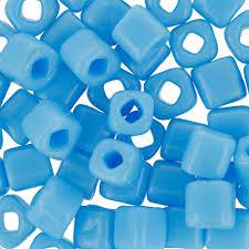"""<b>Бисер</b> Япония """"<b>TOHO</b>"""" CUBE №1 4 мм 5 г <b>№0043 голубой</b> купить ..."""