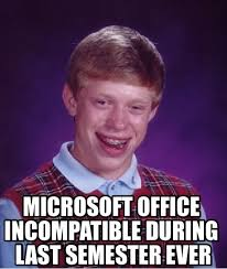 Free Update From Snowleopard - Bad Luck Brian meme on Memegen via Relatably.com