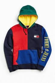 Tommy Hilfiger '90s Colorblock Hoodie Sweatshirt ...
